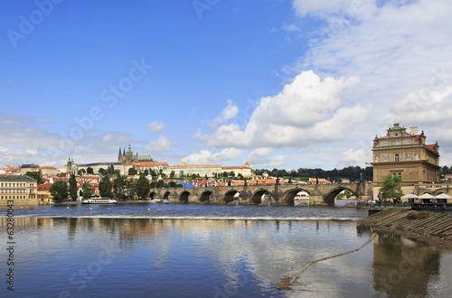 Charles Bridge (medieval bridge in Prague on the River Vltava).
