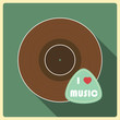 I love  music. Vinyl disc
