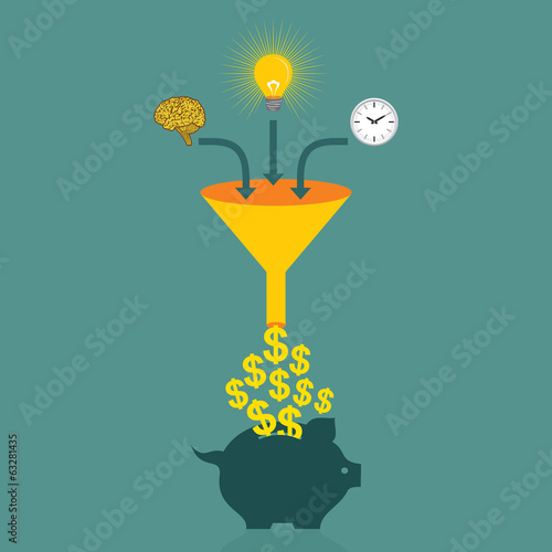 save money in piggy bank concept vector