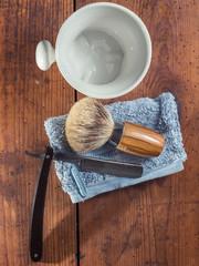 old Shaving Tools on wood