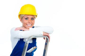 zufriedene handwerkerin