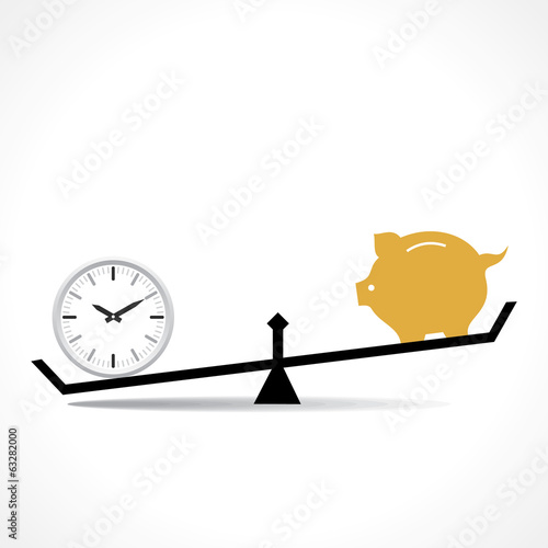 time is more important than money concept vector