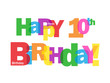 """HAPPY 10TH BIRTHDAY"" CARD (tenth ten years old party wishes)"