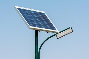 Modern Public Light Post Powered By Solar Energy