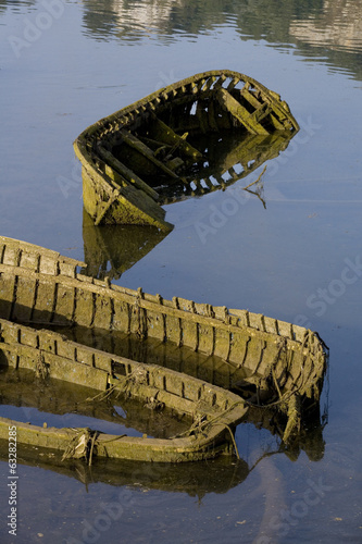Old abandoned boats
