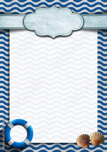 Papiers peints Table preparee Seafood - Menu Template