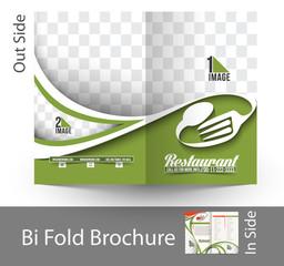 Restaurant & Hotel Bi Fold Brochure Design