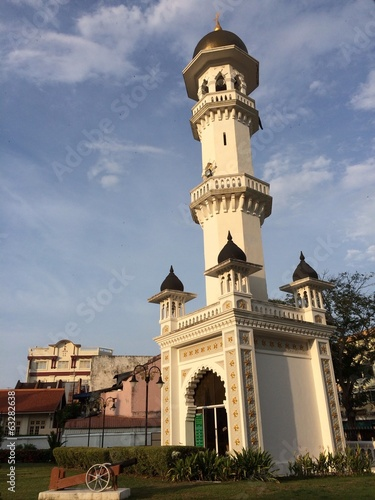 Prayer tower of Kapitan Keling Mosque in Penang