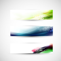 Abstract colorful flow banner template, Vector illustration