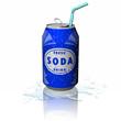 Leinwanddruck Bild - Drink Lattina Soda