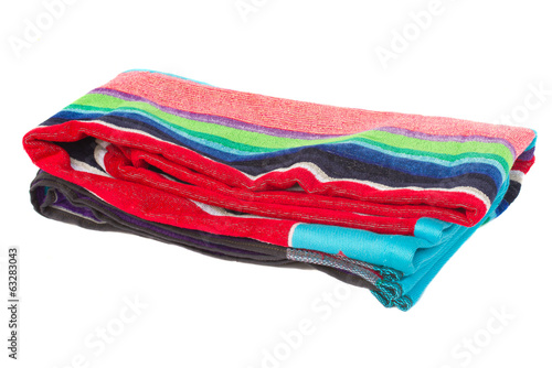 folded beach towel