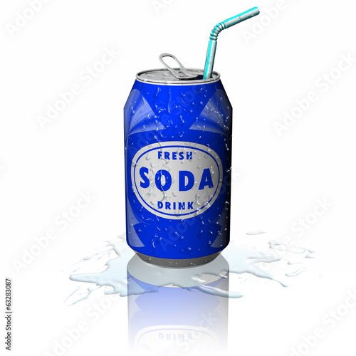 Leinwanddruck Bild Drink Lattina Soda