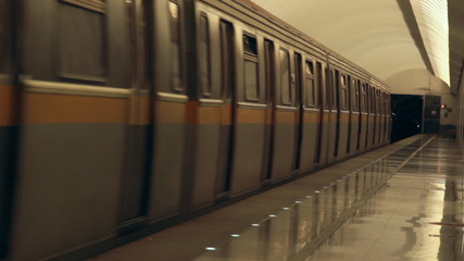 train departure from subway station