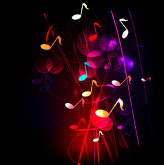 Abstract colorful musical background, Vector illustration
