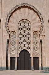 Gates of the The Hassan II Mosque, located in Casablanca is the