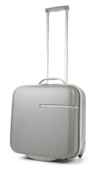 Gray Suitcase on White background
