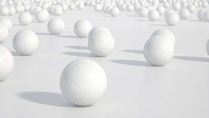 Group of golf balls