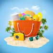canvas print picture - Beach bag