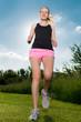 sportliche läuferin