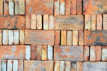 Bricks stacked in piles