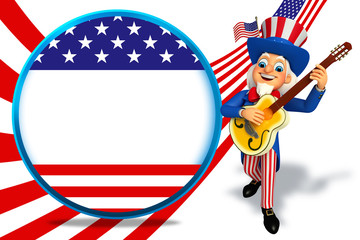 Uncle Sam with guitar