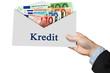 Kredit - Geldumschlag