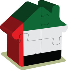 House puzzle in United Arab Emirates Flag