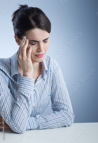 Woman with headache