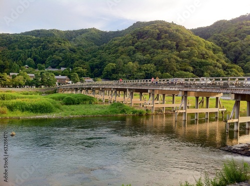 Togetsukyo bridge summer time at Kyoto. Japan