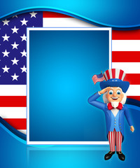 Uncle Sam is doing salute