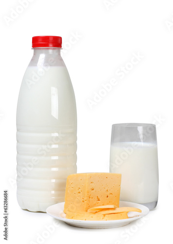 Cheese and white milk