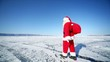 Santa with Gifts goes into the distance