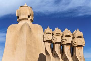 Antoni Gaudì's sculptures - La Pedrera