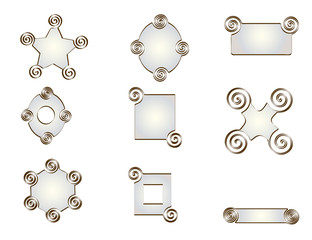 Pack of nine forms of pearl tones.