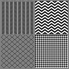 Retro Seamless Pattern Set