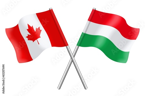Flags : Canada and Hungary
