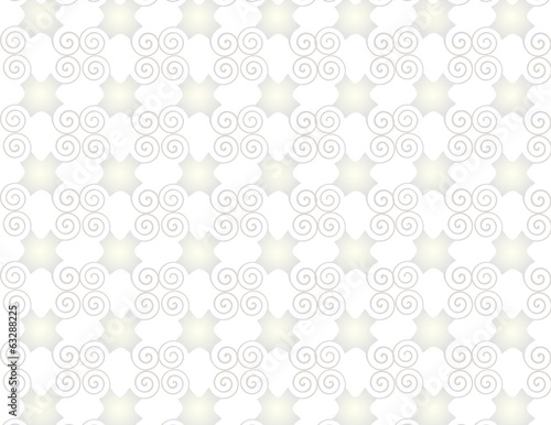 Wallpaper grid pearl arabesque spirals.