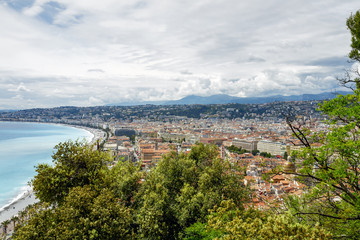 Aerial view towards the Nice, France