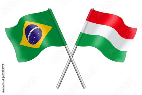 Flags : Brazil and Hungary