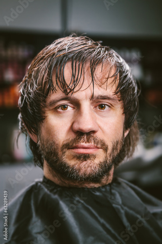 Hairy Man at a Hairdressing