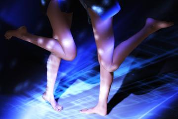 Females in blue Light