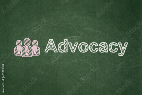 Law concept: Business People and Advocacy on chalkboard