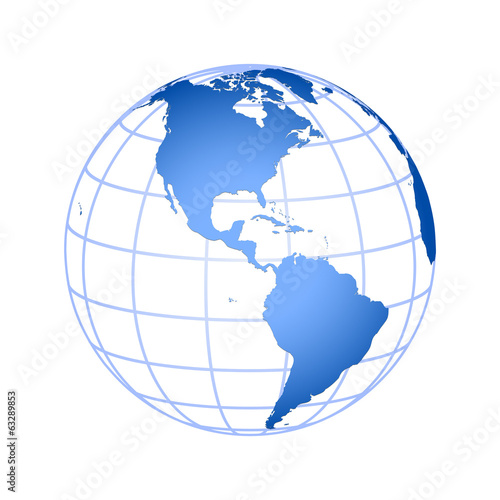 Blue globe - 63289853