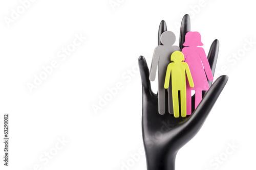 Family in Palm Concept - Stock Image