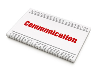 Advertising concept: newspaper headline Communication