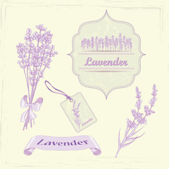 Lavender product labels