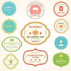 Farm Products Vintage Labels