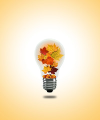 Lightbulb autumn