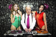 grandpa DJ and two beauitful gogo dancers