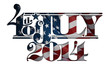 Forth of July 2014 Lettering Cut-Out